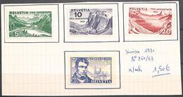 D - [851740]TB//*/Mh-Suisse 1931 - N° 250/53, Alexandre Vinet, Pro Juventute, Montagne, Nature, Personnalités - Nuovi