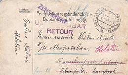 Feldpostkarte Miletin Nach II/18. Marschbatl. - Unauffindbar Retour - 1914 (52457) - Cartas