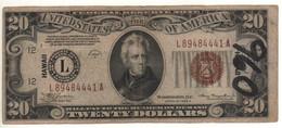 HAWAII - USA   $ 20   1934A     P41 - Hawaii, Nord Africa (1942)