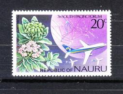 Nauru   - 1976.  Fiori Di Albero , Usato Anche Medicalmente. E Aereo. Oriental Tree Flowers, Also Used Medicinally. MNH - Alberi