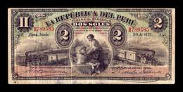 Perú 2 Soles 1879 Pick 2 BC+ F+ - Pérou