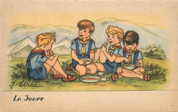 SCOUTS - La Soupe (carte Illustrée Par Idrac). - Pfadfinder-Bewegung