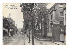 Le Raincy - Boulevard Du Midi - L'Ecole - édit. E.M. Malcuit 6483 + Verso - Le Raincy