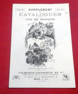 Supplément Catalogues 1930-31 Fleurs Légumes Semences Liste Des Nouveautés Vilmorin Andrieux  Quai De La Mégisserie - Giardinaggio