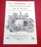 Supplément Catalogues 1931-32 Fleurs Légumes Semences Liste Des Nouveautés Vilmorin Andrieux  Quai De La Mégisserie - Giardinaggio