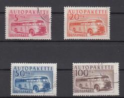 Finland Bus Parcel 1952 - Michel 6-9 Used - Pakjes Per Postbus