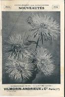 Supplément Catalogues 1934 Fleurs Légumes Semences Liste Des Nouveautés Vilmorin Andrieux  Quai De La Mégisserie - Giardinaggio