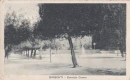 Girgenti - Agrigento - Emiciclo Cavour (ora Piazza Cavour) Viaggiata 1919 - Agrigento
