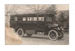 83 BRIGNOLES, Courrier Automobile: LA VERDIÈRE, St JULIEN, GINASSERVIS, VINON, Propriétaire PORTANIER. ( VOIR 2 SCAN ). - Brignoles