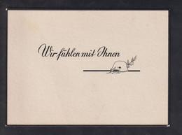 DR WKII Nazi-Trauerkarte - Guerra 1939-45