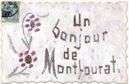 MONTFOURAT - Un Bonjour De... - Carte Artisanale Constituée De Paillettes, Aspect Nacré - Altri Comuni