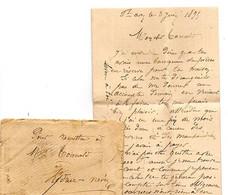 E 17  1893 Lettre Kédruc Névez (29) Sans Oblitération - 1877-1920: Periodo Semi Moderno