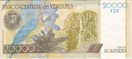 BILLETE DE VENEZUELA DE 20000 BOLIVARES DEL AÑO 2001 (LORO-PARROT) (BANK NOTE) - Venezuela