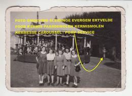 FOTO OMGEVING SLEIDINGE EVERGEM ERTVELDE / FOOR KERMIS PAARDEMOLEN KERMISMOLEN KERMESSE CAROUSSEL / POMP SERVICE - Evergem