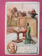 Visuel Très Peu Courant - Galilée Devant Ses Juges - Pub Chaussures Poivret - Recto-verso - Personaggi Storici