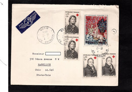 LSC 1964 - Enveloppe De MOULINS (Allier) Pour Etats Unis - Cachets MOULINS Sur YT 1425 & YT 1433 (x2) & YT 1434 (x2) - 1961-....