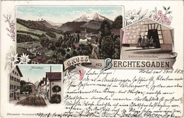 CPA AK Berchtesgaden- Souvenir, LITHO GERMANY (1048989) - Berchtesgaden