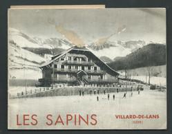 """Fascicule Publicitaire Sur L'institution """" Les Sapins ' à Villard De Lans  - Vers 1925- 14 Pages   Fau80 - Turismo"""