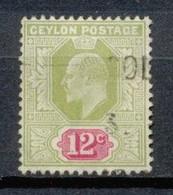 CEYLAN - 1904 - Lot 045 - Oblitere - Ceylon (...-1947)