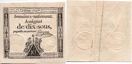 Assignat / 10 Sous 4-1-1791 / TTB - Assegnati