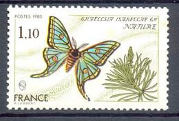 Oblitéré - 1980 - Y&T 2089 (Mi 2208) - GRAELLSIA ISABELLAE GR NATURE - (1) - Usati