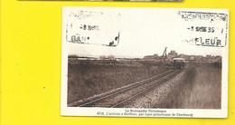 BARFLEUR Rare Train à L'Arrivée De Cherbourg (Le Goubey) Manche (50) - Barfleur