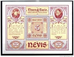 NEVIS   BF 25  * *   ( Cote 7.50.e ) Poste Timbre Sur Timbre Tour Et Taxis - Sellos Sobre Sellos