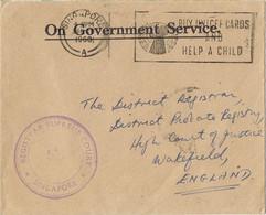 38226. Carta  Service SINGAPORE 1960. Court Supreme. Slogan Help A Child - Singapur (1959-...)