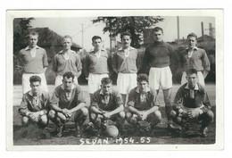 Photo Originale équipe De Football Sedan 1954-55 - Sport