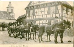 GD  67 Village En Alsace Gruss Aus Dem Elsass, Cortege Chevaux Alsacienne - Other Municipalities