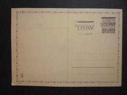 Bohemia-Moravia Op LOUNY 9.5.1945 [double Print] Card MINT Postal History - Sin Clasificación