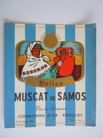 Etiket Etiquette Hellas Muscat De Samos Vin De Liqueur Couronne D'or Roulers - Costumes Traditionnels