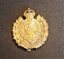 Cap Badge Royal Engineers - Insigne De Casquette - BEF 1914-1918 - Génie Militaire - Armée Britannique - 1914-18
