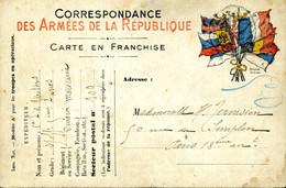 Carte De Franchise Militaire Cachet Illisible Pour Paris SP 109 =1e Division D'infanterie Coloniale (marocaine) - Guerra Del 1914-18