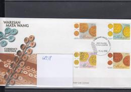Malaysia Michel Cat.No. FDC 685/688 Coins - Malesia (1964-...)