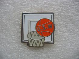 Pin's Du Club De Basketball USW (Union Sportive Wittenheim Basket) Dépt 68 - Pallacanestro