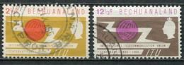 Bechuanaland Mi# 177-8 Gebraucht/used - ITU - 1965-1966 Interne Autonomie