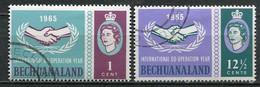 Bechuanaland Mi# 179-80 Gebraucht/used - Int. Year Of Cooperation - 1965-1966 Interne Autonomie