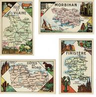 Chromo -image, Vermi-bonbons Berger, Départements Bretagne , Finistère, Morbihan, Ille Et Vilaine, Côtes Du Nord. - Andere