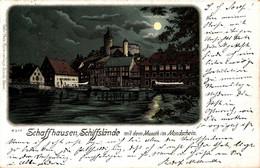 78156-  Mondschein Karte Schaffhausen Schiffsgelände 1899 - SH Schaffhausen