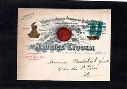 LSC - Enveloppe Illustrée - MAURICE EYQUEM à PARIS - Compteurs D'Eau De Volume En Bronze - 1877-1920: Semi Modern Period