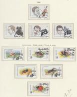 BELGIUM USED COB 2666/69 & 2630/35 MUSIQUE ET LITERATURE & INSECTES - Used Stamps
