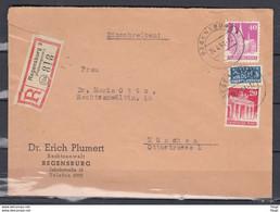 Registriert Brief Nr52A+58A+70A Von Regensburg 3 Naar Munchen (24.4.51) (N1) - Zona Anglo-Américan
