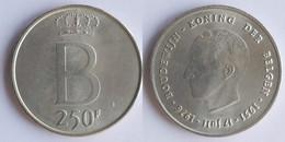 Belgium 250 Francs 1976 KM # 157.1 (Dutch) Baudouin I /DER BELGEN/ - 10. 250 Francs