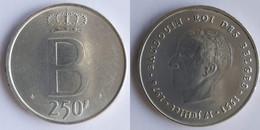 Belgium 250 Francs 1976 KM # 158.1 (French) Baudouin I /DES BELGES/ - 10. 250 Francs