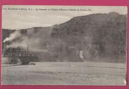 119 FL  PLAN DU VAR En L'état Plis Gauche Et Droit USINE BOZEL ELECTRO CHIMIE De BOZEL Le Viaduc Pont 1024 A131 - Other Municipalities