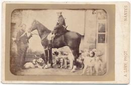 CABINET - Chasse à Courre - Cor De Chasse - Meute De Chiens, Par LORY à Nantes (Ca 1885) - RARE !! - Antiche (ante 1900)