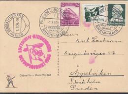 DR  ZEPPELIN-Post: 32 I A, Mit DR 573, 583, 584 MiF, Mit Zuleitungs-, Flughafen- Und Bestätigungsstempel 1.8.1936 - Aéreo