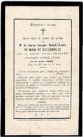 LIEGE - Baron Joseph De WAHA De BAILLONVILLE -- Veuf S. GRISARD - Décédé 1863 - Andachtsbilder