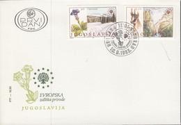 JUGOSLAWIEN 2000-2001, FDC, Europäischer Naturschutz, Europa Sympathie-/Mitläuferausgabe, 1983 - 1983